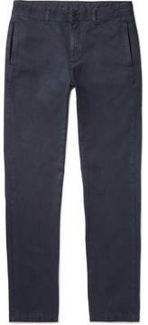 Massimo Alba Winch Slim-Fit Cotton And Cashmere-Blend Trousers