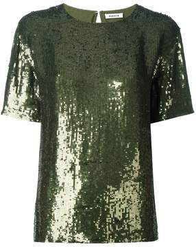 P.A.R.O.S.H. short sleeved sequinned top