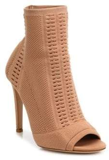 Gianvito Rossi Vires Knit Peep Toe Booties