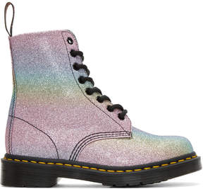 Dr. Martens Multicolor Pascal Rainbow Glitter Boots