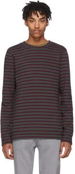 A.P.C. Grey and Burgundy Joseph Sweatshirt