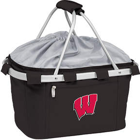 Picnic Time Metro Basket Wisconsin Badgers Embroidered