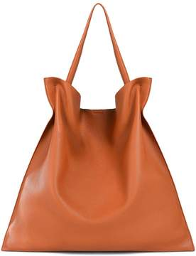 Jil Sander Xiao Md Grained-leather Tote