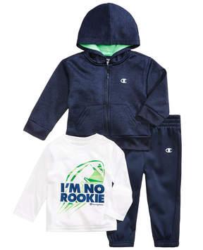 Champion 3-Pc. Zip-Up Hoodie, Graphic-Print T-Shirt & Jogger Pants Set, Baby Boys (0-24 months)