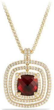 David Yurman 26mm Châtelaine 18K Faceted Garnet Bezel Enhancer with Diamonds