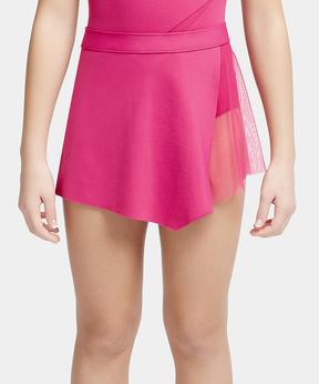 Capezio Pink Asymmetrical Skirt - Girls