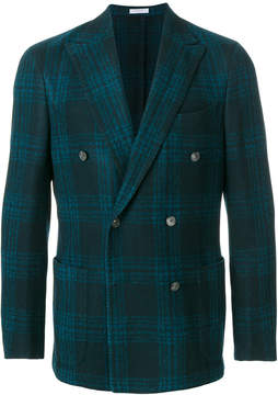 Boglioli tartan double breasted blazer