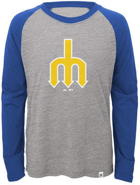 Majestic Seattle Mariners Margin Coop Raglan T-Shirt, Big Boys (8-20)