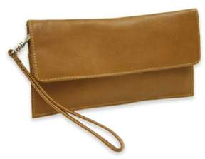 Piel Leather Classic Travel Wallet in Saddle