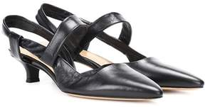 The Row Coco Twist leather pumps