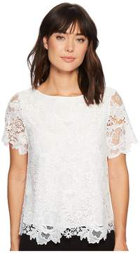 Catherine Malandrino Cassie Lace Tee Women's Clothing