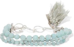 Chan Luu Tasseled Silver Amazonite Bracelet - Mint