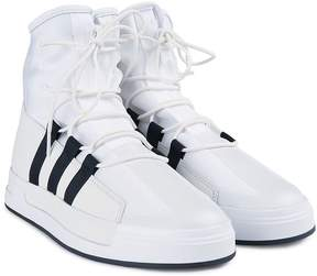 Y-3 The Atta High-top Leather And Mesh Sneakers