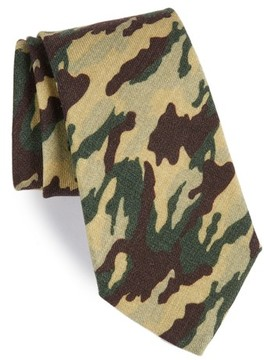 Michael Bastian Men's Camo Print Wool Tie