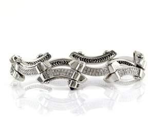Charriol Philippe 18K White Gold & Diamond Bracelet