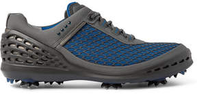Ecco Cage Evo Rubber-Panelled Mesh Golf Shoes