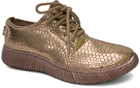 Bamboo Rose Gold Snakeskin Forward Sneaker