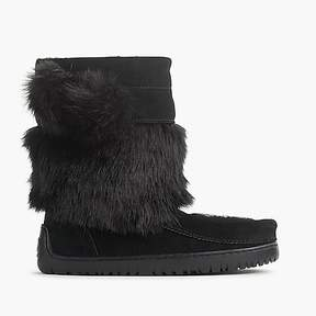 J.Crew Manitobah for faux-fur mukluks