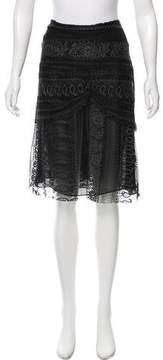 Christian Lacroix Lace Knee-Length Skirt