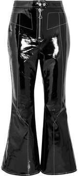Ellery Sipsi Cropped Vinyl Flared Pants - Black