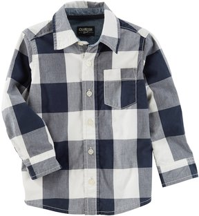 Osh Kosh Toddler Boy Checked Button Down Shirt