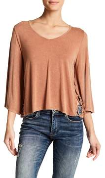 Anama V-Neck Side Tie Blouse