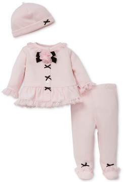 Little Me 3-Pc. Hat, Cardigan & Footed Pants Set, Baby Girls (0-24 months)