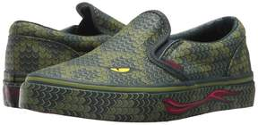 Vans Kids Classic Slip-On Reptile/Green Lizard) Boy's Shoes