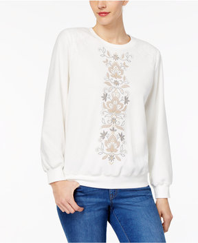 Alfred Dunner Eskimo Kiss Embroidered Sweatshirt
