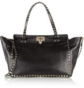 Valentino The Rockstud Medium Leather Trapeze Bag - Black