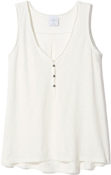 Alternative Apparel Nouvelle V-Scoop Tank in Vintage White, X-Small
