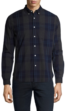 Life After Denim Men's Cotton Beacon Checkered Slim Fit Sportshirt
