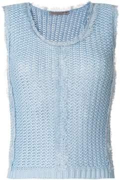 Ermanno Scervino picot trim knitted vest top