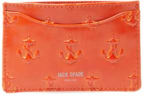 Jack Spade Men's Embossed Anchor Card Holder