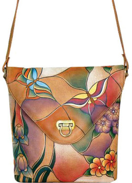 Anuschka Anna By ANNA by Hand Painted V Shaped Flap Bag 8059 (Women's)