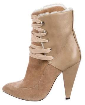 IRO Suede Lace-Up Booties