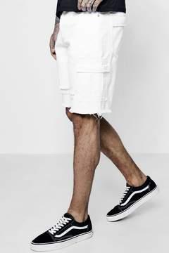 boohoo Bermuda Denim Shorts with Cargo Pockets