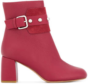 RED Valentino buckled shoe boots