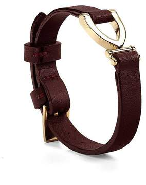 Aspinal of London Stirrup Bracelet In Smooth Burgundy