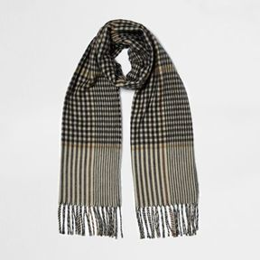 River Island Womens Brown check scarf