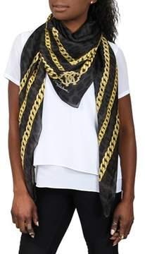 Roberto Cavalli C3s07d080207 Black/gold Chain Shawl.