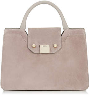 Jimmy Choo REBEL TOTE/S Opal Grey Suede Tote Bag