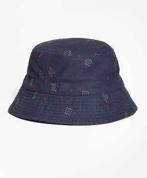 Brooks Brothers Medallion-Embroidered Bucket Hat