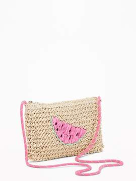 Old Navy Watermelon-Graphic Straw Bag for Girls