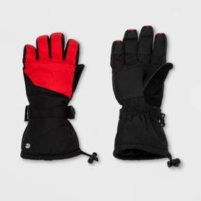Champion Boys' Embossed Pieced Color Block Ski Glove Red/Black