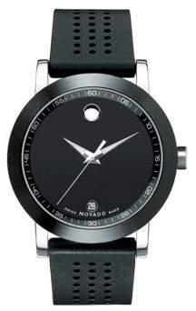 Movado Men's 606507 Museum Rubber Watch, 42mm