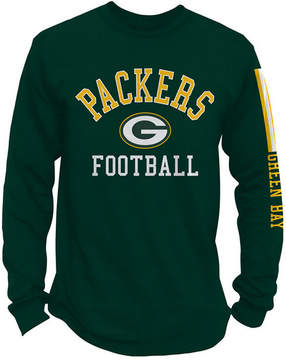 Authentic Nfl Apparel Men's Green Bay Packers Spread Formation Long Sleeve T-Shirt