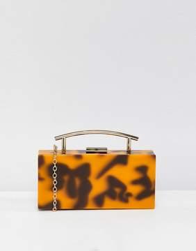 Asos DESIGN tortoiseshell marble clutch bag