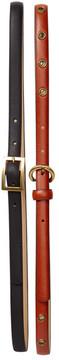 Steve Madden Solid & Grommet 2-Piece Belt Set