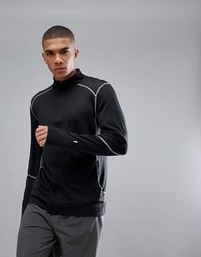 New Look SPORT Sweat With Zip Front In Black